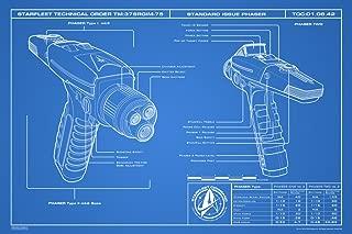Pyramid America Star Trek Discovery Phaser Blueprint 1 Cool Wall Decor Art Print Poster 12x18