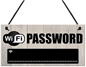 Qmsellz - Sticker Wifi - Wifi Password Chalkboard Housewarming Gift Hanging Plaque Home Internet Sign - Boat Drops Anchor Docked Video Monitored Sign Wall Security Sale Home Decor Sweet Homemade