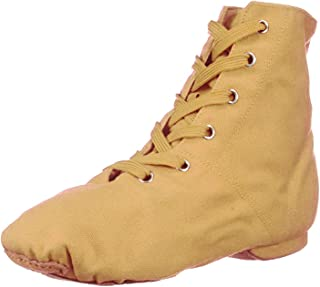 Womens Canvas Lace up Jazz Boot Shoes