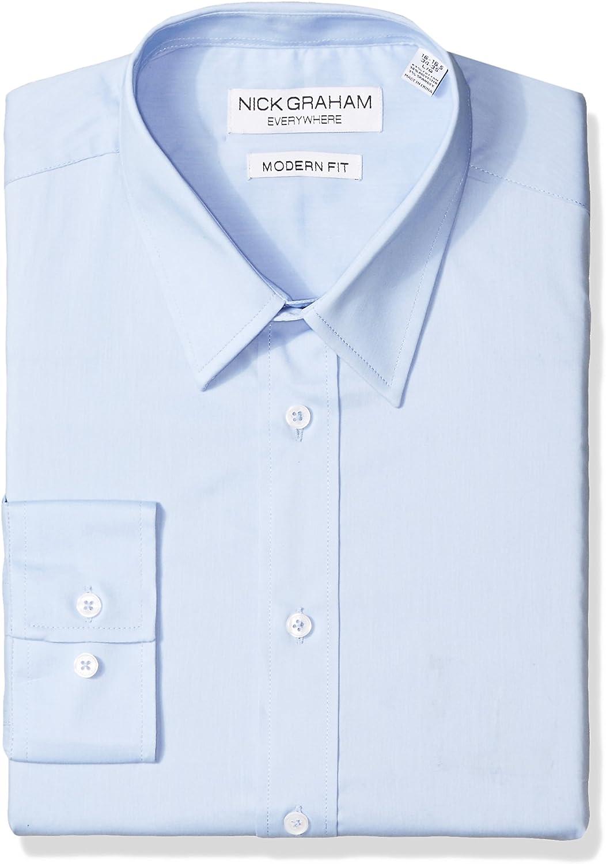 Nick Graham Everywhere Men's Performance Cotton Stretch Modern Fit Dress Shirt