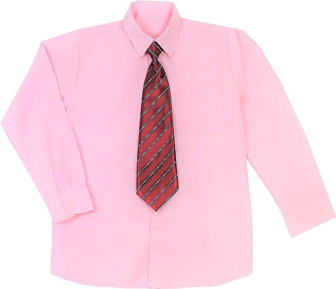 1000 Ting, Denmark Camisa niños Rosa con Corbata (1-14 años)