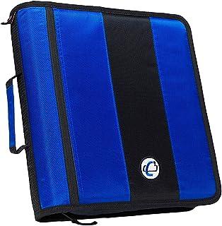Case-It 2-Inch Ring Zipper Binder, Blue