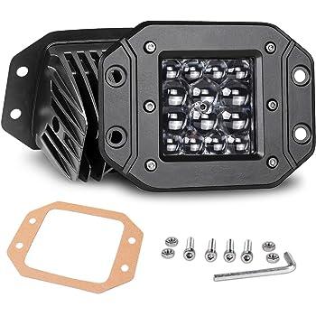 Nirider Flush Mount LED Pods, 2PCS 84W Bumper Lights 5 Inch Spot Beam Driving Lights LED Light Bar Flush LED Work Light Off Road Lights for Truck SUV ATV UTV Boat