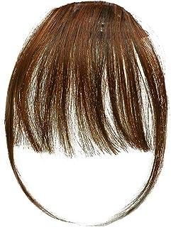 Bestechno 前髪ウィッグ ナチュラル 前髪エクステ 前髪かつら 超薄型 前髪用ウィッグ もみあげ付きウィッグ アメピン10本付き
