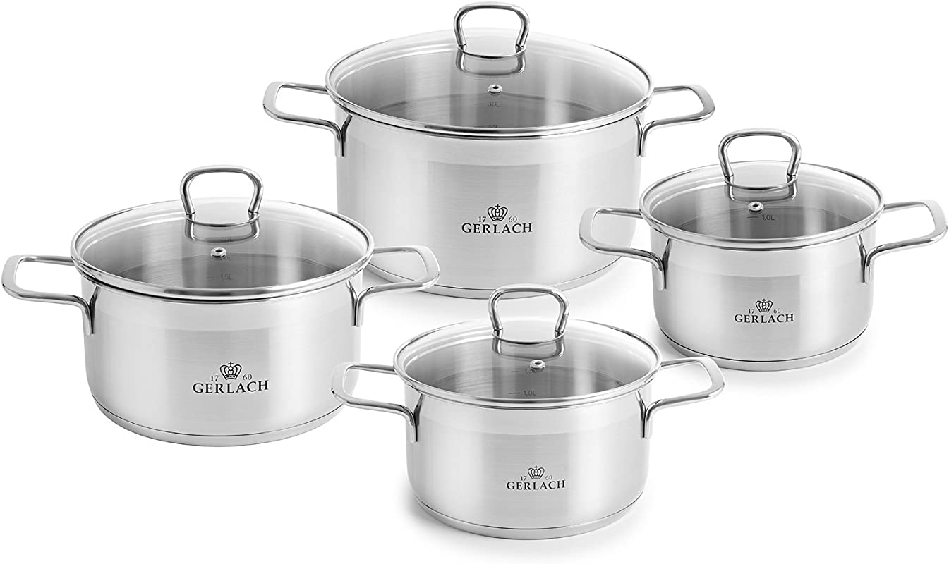 Cookware Set GERLACH Brava 8 Pcs Induction