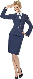 Smiffy's Women's WW2 Air Force Female Captain Costume, Navy Blue