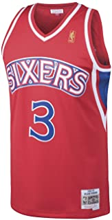 Mitchell & Ness Allen Iverson Philadelphia 76ers NBA Throwback Jersey - Red