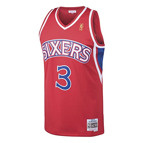 8c2898357a3 Allen Iverson Philadelphia 76ers Mitchell & Ness NBA Throwback Jersey - Red