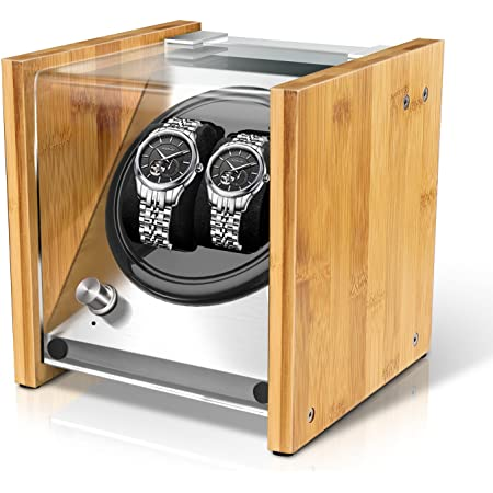 Bamboo Watch Winder Double for Automatic Watches by Watch Winder Smith