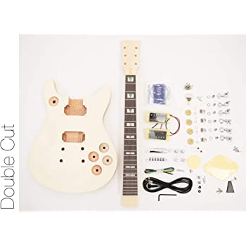 The FretWire DIY Electric Guitar Kit Double Cut Build Your Own Guitar Kit