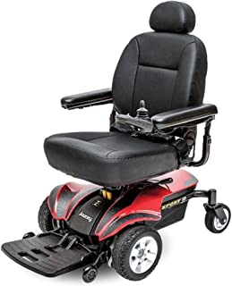 Pride Mobility - Jazzy Sport 2 - Front-Wheel Drive Power Chair - Jazzy Red