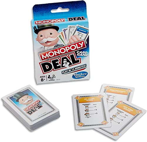 MONOPOLY - Deal - Card Game - Short Play - Play in 15 minutes - 2 to 6 Players- Family Board Games and Toys for Kids ...