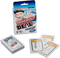 MONOPOLY - Deal - Card Game - Short Play - Play in 15 minutes - 2 to 6 Players- Family Board Games and Toys for Kids -...