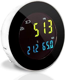 Pyle Smart Indoor Air Quality Monitor - Digital Hygrometer Thermometer Test Gauge, Air Tester for Home, Pollution Sensor D...