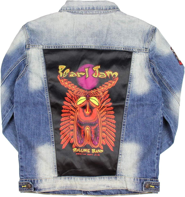Dragonfly Wolfgang's Design Adult Men's Pearl Jam Rollins Band Music Club Denim Jean Jacket