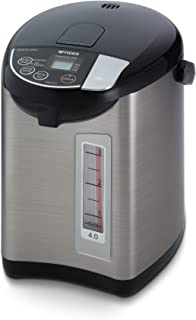 Tiger PDU-A40U-K Electric Water Boiler and Warmer, Stainless Black, 4.0-Liter by Tiger Corporation