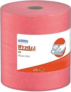 WypAll - KCC41055 X80 Cloths, HYDROKNIT, Jumbo Roll, 12 1/2 x 13 2/5, Red, 475 Wipers/Roll