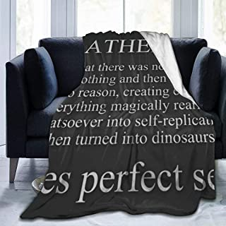 LuLu Life House Atheism 1562306537370 3680 Blanket Throw Size Plush Throw Blanket Fuzzy Soft Micro Blanket for Bed Couch Chair Fall Winter Spring Living Room - 50 x 65 inch