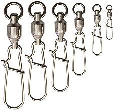 Shaddock 100stk Angeln Wirbel Kugellager Rolling Drehgelenk Solide Ringe Angelleine to Haken Clip Wirbel Anschluss Angelzubeh/ör