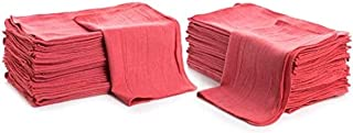 "Simpli-Magic 79101 Shop Towels, 14""x12"", 50 Pack, Red"