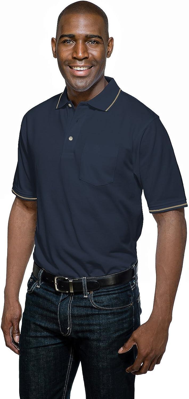 Tri-Mountain Men's K097P Trace S/S Pique Pocket Polo Shirt