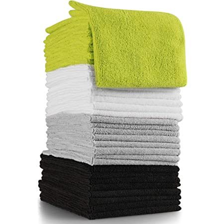 Car Pack of 50 TV Screen 11.7 x 12.3 Grab/•a/•Rag Microfiber Cleaning Cloth Electronics Soft Highly Absorbent Lint-Free Streak-Free Reusable Microfiber Towel Wipes for House Bathroom Kitchen