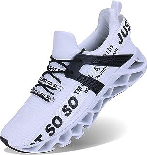 UMYOGO Men Outdoor Athletic Walking Blade Running Shoes Slip On Sports Fashion Sneakers