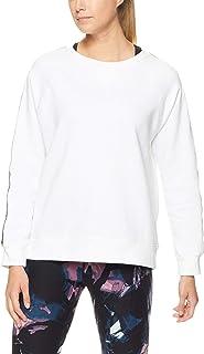 Calvin Klein Women's Raglan Logo Fleece Crew Neck W/Logo Tape Pull Over