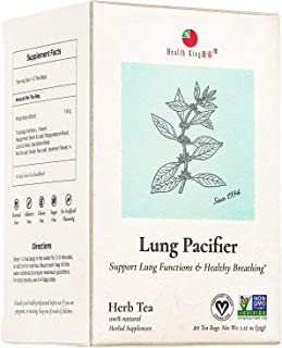 Health King Medicinal Teas Lung Pacifier Herb Tea Bags, 20 Count