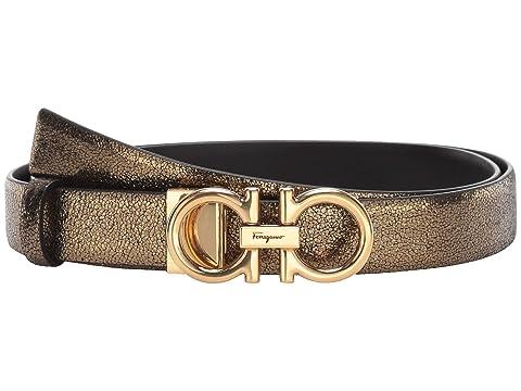 Salvatore Ferragamo New Gancini Metal Adjustable Belt
