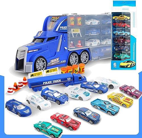 Enfants Transport Voiture Jouet modèle Alliage Voiture Ensemble conteneur Camion 3-6 Ans Garçon