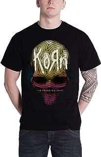 Korn Mens T Shirt Black The Paradigm Shift Album Cover Logo Official