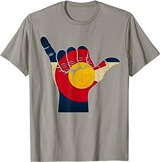 Colorado Rocky Mountain Shirt | Shaka sign Flag Tee Shirt