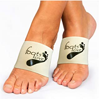 Foots Love Plantar Fasciitis Arch Support Braces-Sleeve Inserts. Compression Lifts & Highest Copper Content Relaxes Nerves. Arch and Heel Foot Care Fast Pain Relief