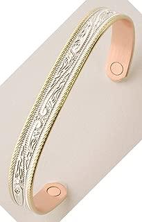 Sabona 55270 Western Scroll Duet Magnetic Bracelet, Extra Large