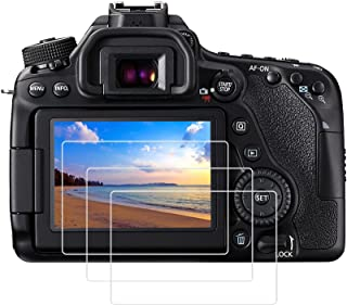 PCTC Tempered Glass LCD Screen Protectors Compatible for Canon EOS 90D 80D 77D 70D 7D Mark II 7DII DSLR Camera Protective ...