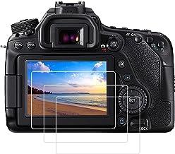 محافظ صفحه نمایش شیشه ای PCTC سازگار برای Canon EOS 70D 80D 77D ضد خش ضد خش اثر ضد اثر انگشت ضد آب (3 بسته)