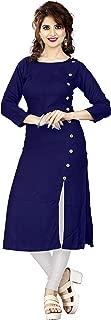 HF HOLYDAY FASHION Plain & Solid Rayon A-Line Kurtis for Women
