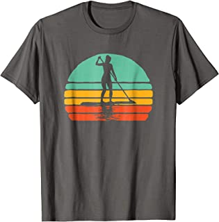 Vintage Woman on SUP Stand Up Paddleboard Retro Shirt
