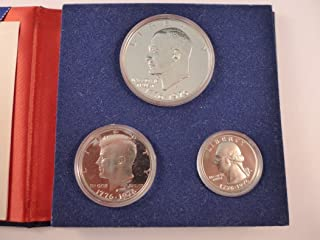 1976 S Proof Set Bicentennial Silver 3 Piece Proof Set in Original Packaging Mint State