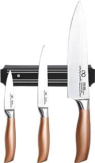 Bergner Infinity Chef Set de Cuchillos y Barra magnética, Acero Inoxidable, Bronce, 20 cm