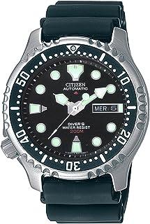 NY0040-09E - Reloj analógico automático para Hombre, Correa de Poliuretano Color Negro