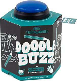 Professor Puzzle Doodle Buzz - Drawing Party Game with Button Buzzer - Artistic Family Game