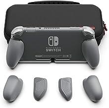 Skull & Co. Nintendo SWITCH Lite GripCase Lite カバーセット:人間工学、交換可能グリップ、各サイズの手に適合し、グリップカバー(ケース含み)- グレー