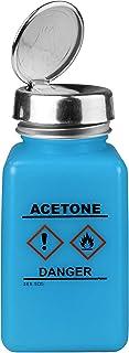 Menda 35730 One Touch Liquid Dispenser Pump Bottle, Acetone Printed, HCS Label, ESD Safe, 6 oz. Dissipative, HDPE/Stainles...