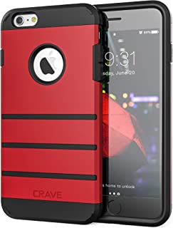 iPhone 6S Plus Case, iPhone 6 Plus Case, Crave Strong Guard Protection Series Case for iPhone 6 / 6s Plus (5.5 Inch) - Red
