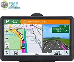 GPS Navigation System, LONGRUF 7-inch 8GB-256MB Satellite Navigator, top-Loaded US and North America Latest 2019 map Lifetime Free Update