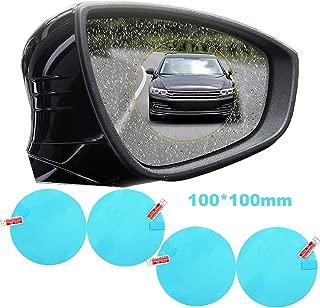 Car Rearview Mirror Waterproof Membrane Universal Automotive Rainproof Side Window Protector Film Car Accessories Bathroom Anti Mist Scratch Glare for Off Road SUV Bus Sedan Motorcycle (Pack of 4)