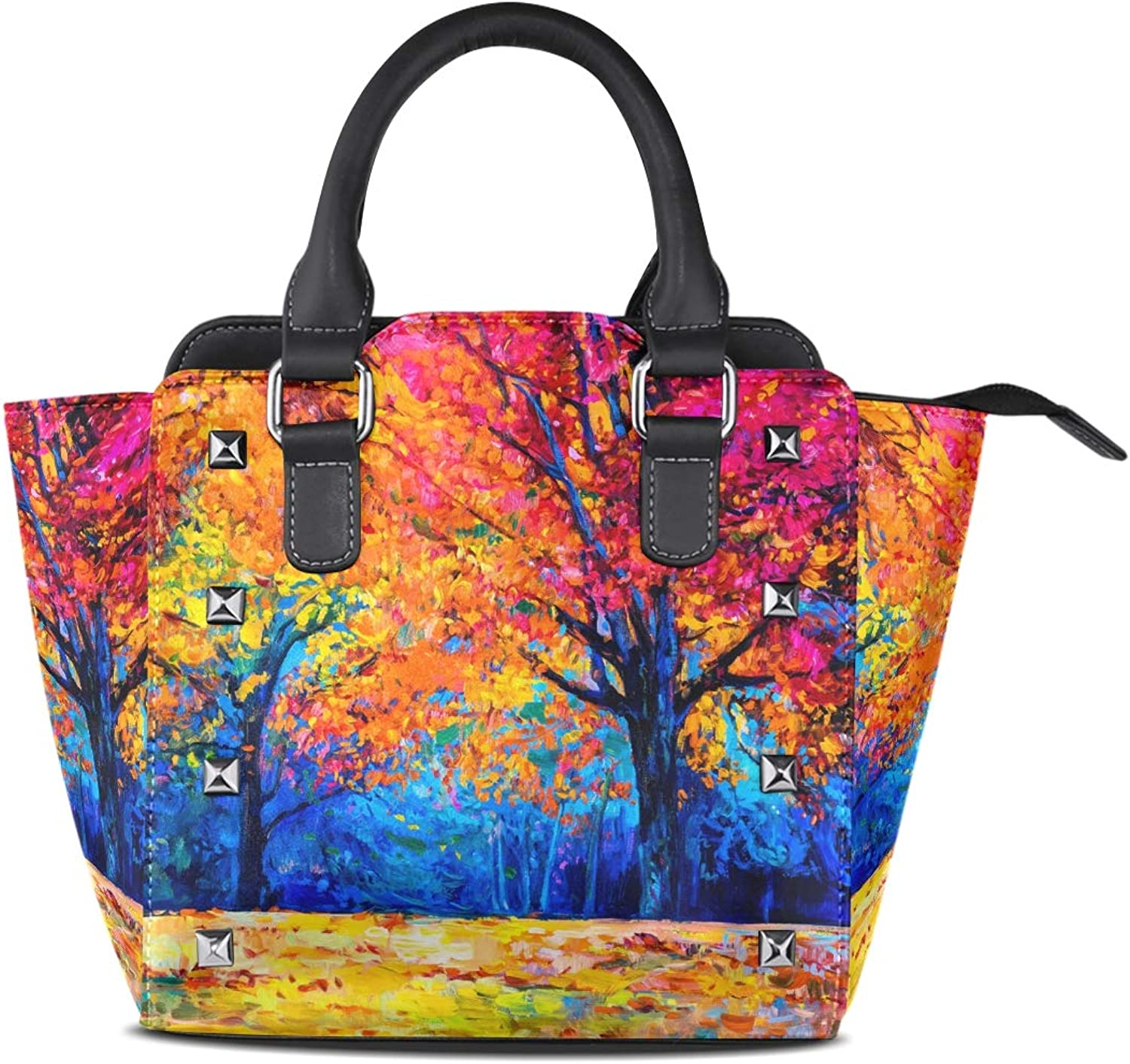 Women's Handbags Vintage Forest Tree Oil Painting Tote