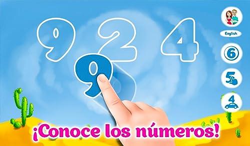 Números de aprendizaje para bebés - divertido juego educativo didáctico para niños...